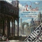 Sonatas op. 11 for violin and basso cont cd musicale di Vitali giovanni batt