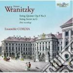 Wranitzky Anton - Quintetto Per Archi Op.8 N.3 - Sestettoper Archi In Do cd musicale di Anton Vranicky