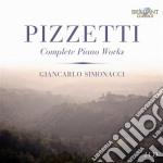 Complete piano works cd musicale di Ildebrando Pizzetti