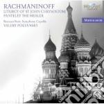 Liturgia di san giovanni crisostomo cd musicale di Sergei Rachmaninov