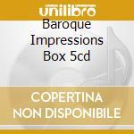 BAROQUE IMPRESSIONS BOX 5CD cd musicale di ALBINONI-BACH-TARTINI-VIVALDI