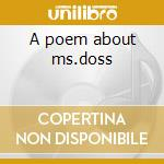 A poem about ms.doss cd musicale di Conya Doss
