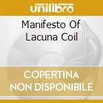 MANIFESTO OF LACUNA COIL cd musicale di Coil Lacuna
