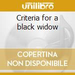 Criteria for a black widow cd musicale di Annihilator