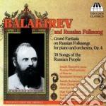 GRAND FANTASIA OF RUSSIAN FOLKSONGS       cd musicale di Balakirev mily alexe