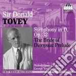 Tovey Donald - Sinfonia In Re Op.32, The Bride Of Dionysus cd musicale di Donald Tovey