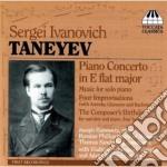 CONCERTO PER PIANOFORTE, MUSICA PER PIAN cd musicale di TANEYEV SERGEY IVANI