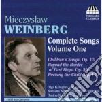 Lieder (integrale), vol.1 cd musicale di Mieczyslaw Vainberg