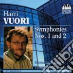 Vuori Harri - Sinfonia N.1, N.2 cd musicale di Harri Vuori