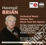 Brian Havergal - Musica Per Orchestra, Vol.2: Musica Dalle Opere Turandot, Faust, The Cenci cd musicale di Havergal Brian
