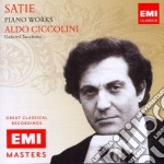 Erik Satie - Ciccolini Aldo - Masters: Satie - Gymnopedies cd musicale di Aldo Ciccolini