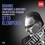 Brahms: symphonies; ein deutsches requie cd musicale di Otto Klemperer