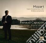 Mozart Wolfgang Amadeus - Capucon Renaud - Concerti Per Violino N. 1&3 Sinfonia Concertante cd musicale di Renaud Capucon