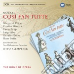 New opera series: mozart cos� fan tutte cd musicale di Otto Klemperer