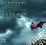 Schubert quartetti per archi cd musicale di Quartet Artemis
