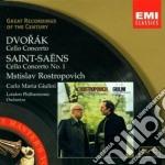 Dvorak - Rostropovich Mstislav - Masters: Dvorak & Saint-saens Cello Concertos cd musicale di Mstisla Rostropovich