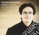 Francesco Piemontesi - Recital cd musicale di Handel/brahms/bach/liszt