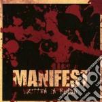 Manifest - Written In Blood cd musicale di Manifest
