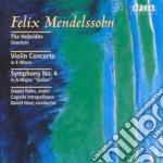CONCERTO X VL OP.64, SINFONIA N.4 OP.90 cd musicale di Felix Mendelssohn