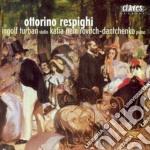 Respighi Ottorino - Opere Originali Per Violino E Pianoforte cd musicale di Ottorino Respighi