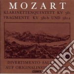 QUINTETTO X CLAR E ARCHI K 581, FRAMMENT cd musicale di Wolfgang Amadeus Mozart