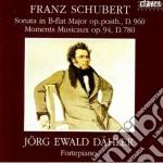 SONATA X PF D 960, MOMENTI MUSICALI D 78 cd musicale di Franz Schubert