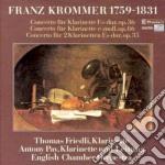 Krommer Franz - Concerto X Clar Op.36, Op.86, Concerto X 2 Clar Op.35 cd musicale di Franz Krommer