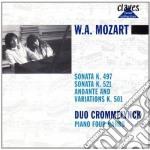 Mozart Wolfgang Amadeus - Opere X Pf A 4 Mani: Sonate K 497 E K 521, Andante E Variazioni K 501 cd musicale di Wolfgang Amadeus Mozart