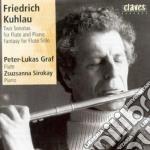 SONATA X FL OP.85, OP.64, FANTASIA X FL cd musicale di Friedrich Kuhlau