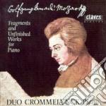 Mozart Wolfgang Amadeus - Frammenti E Opere Incompiute X Pf A 4 Mani cd musicale di Wolfgang Amadeus Mozart