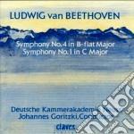 Beethoven Ludwig Van - Sinfonia N.1 Op.21, N.4 Op.60 cd musicale di Beethoven ludwig van
