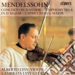 CONCERTO X VL (SECONDA VERSIONE), SINFON cd musicale di Felix Mendelssohn
