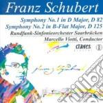 Schubert Franz - Sinfonia N.1 D 82, N.2 D 125 cd musicale di Franz Schubert