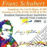 SINFONIA N.3 D 200, OUVERTURE D 470, D 5 cd musicale di Franz Schubert