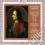 Tartini Concerti Per Violino cd musicale di Tartini