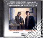 Kabalewsky /Hummel / Nepomuk - Sonata Op. 71, Grande Sonata Op. 104, Kleine Suite Op. 23 cd musicale di S - vv.aa.