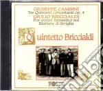 Cambini Quintetti Per Fiati Op.4 cd musicale di Cambini/briccialdi
