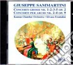 Giuseppe  Sammartini - Concerti Grossi Op. 2 Nn. 1-2-3-5, Concerti Grossi Op. 9 Nn. 2-4 cd musicale di G.b. Sammartini