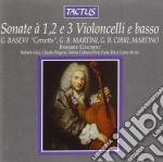 Ensemble Concerto - Sonate A 1,2,3 Violoncelli cd musicale di Artisti Vari