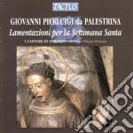 Lamentazioni settimana santa cd musicale di Palestrina giovanni p