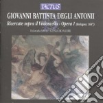 Palmeri Alessandro - Ricercate Per Violoncello cd musicale di Degli antonii giovann