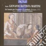 Tenerani Ottaviano - 6 Sonate Per Organo E Cembalo cd musicale di Martini giovanni batt