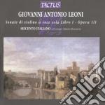 Son.vio.voce sola lib.i op.iii cd musicale di Leoni giovanni antoni