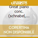 Great piano conc. (schnabel, a.b.m. etc) cd musicale di Artisti Vari