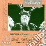 Georg hann: arie da opere (1938-1943) cd musicale di Hann g. -vv.aa.