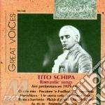Romantic songs (1925-1938) cd musicale di Schipa t. - vv.aa.