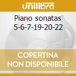 Piano sonatas 5-6-7-19-20-22 cd musicale di Beethoven