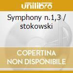 Symphony n.1,3 / stokowski cd musicale di Johannes Brahms