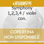 Symphony 1,2,3,4 / violin con. cd musicale di Johannes Brahms