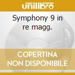 Symphony 9 in re magg. cd musicale di Gustav Mahler